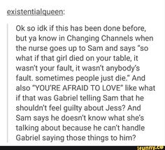 *In the corner crying* I don't ship Sabriel tho