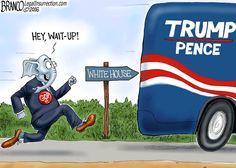 GOP establishment are moving toward a better Trump relationship, now that he's won the election. Cartoon by A.F. Branco ©2016.