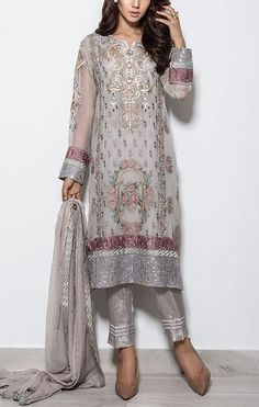 Buy Light Grey Embroidered Chiffon Salwar Kameez by Baroque 2015 Call: (702) 751-3523 Email: Info@PakRobe.com www.pakrobe.com https://www.pakrobe.com/Women/Clothing/Buy-Designer-Chiffon-Dresses #DESIGNER #CHIFFON #DRESSES