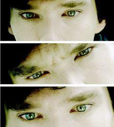 the eyes!! #SHERLOCK #BenedictCumberbatch