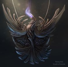 Rising bird - breath of incense by wolfnoom