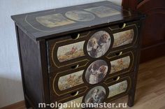 Painted and Decorated Chest of drawer.