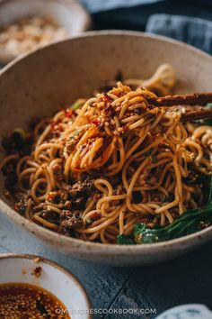 A real-deal dan dan noodle recipe that stays true to the authentic Sichuan flavor. This post covers all the key ingredients and includes a super rich and balanced sauce to recreate the classic dish that tastes like China. Asian Noodle Recipes, Asian Dinner Recipes, Asian Recipes, Ethnic Recipes, Asian Foods, Chinese Recipes, Yummy Pasta Recipes, Spicy Recipes, Beef Sukiyaki Recipe