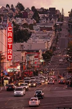The Castro, San Francisco. The Castro, is a neighborhood in Eureka Valley in San Francisco. The Castro was one of the first gay neighborhoods in the United States. San Francisco City, San Francisco Travel, San Francisco California, California Dreamin', San Diego, Nova Orleans, Las Vegas, Bay Area, St Francis