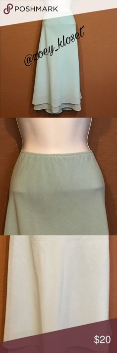 MSK Women 🅿️LUS 26W Long Maxi Ruffle Skirt Excellent Condition, Long, Elastic Waist, Layers, Lined. MSK Women Skirts Maxi
