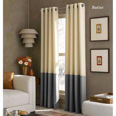 Kendallin Color Block Grommet Curtain Panels