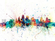 Kansas City Skyline Art Print