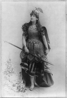 Woman dressed as Wagnerian heroine, Burnhilde.  Photograph, c1898. Miscellaneous Items in High Demand, Library of Congress Prints and Photographs Division.