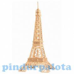 3D Eiffel-torony makett. 51 részből összerakható, fából készült makett csomag. A saját kézzel készített produktumoknak minden gyermek sokkal jobban örül. Az elkészült Eiffel-torony minden Franciaországot kedvelő gyermeknek és felnőttnek egyaránt ajánlott.
