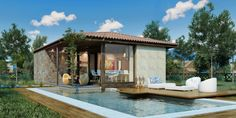 Casa rustica con 2 dormitorios y hermoso diseño                                                                                                                                                                                 Más