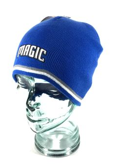 d1c90497d07 Jersey Stripe Skully Knit Beanie. Style  Cuffless   Fitted. Orlando Magic  NBA Hat