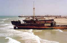 The third largest ship breaking yard in the world has created an eerie shipping graveyard in southern Pakistan.