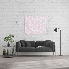 Buy #005 OWLY pink leafs seamless pattern Wall Tapestry #frame #building #canvas #canvasprint #walldecor #prints #artwork #print #canvas #poster #print #wallappers #background #owlychic #tapestry