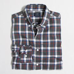 RED = BOUGHT  Heathered cotton plaid shirt  Colors:  Sportsman Red, Blue Sky Plaid  Size XL