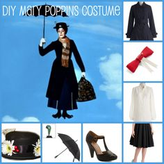 DIY Mary Poppins Costume - Right From Your Closet
