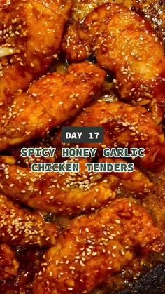 Honey Garlic Chicken, Spicy Garlic Shrimp, Sweet And Spicy Chicken, Grilled Shrimp Recipes, Asian Recipes, Healthy Recipes, Asian Chicken Recipes, Easy Chicken Tenderloin Recipes, Quick Food Recipes