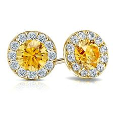 4d7672a5d3504 17 Best Yellow & Rose Collection images in 2017 | Diamond studs, Diamond
