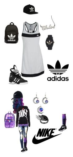 """""""Lush Visions' Styles"""" by lushvisions on Polyvore featuring adidas Originals, adidas, sportystyle, Hanky Panky, Bootights, NIKE and Hot Topic"""