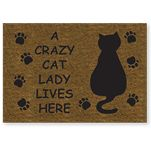 A Crazy Cat Lady Lives Here Coir Mat & other great Cat gifts :)