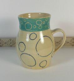 Unique Funky Mug Handmade Coffee Cup Teacup Tea Cup by flyingpignc