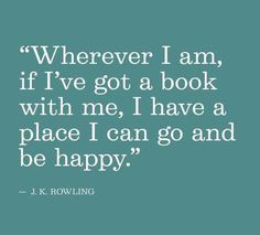 Happiness is reading a book.