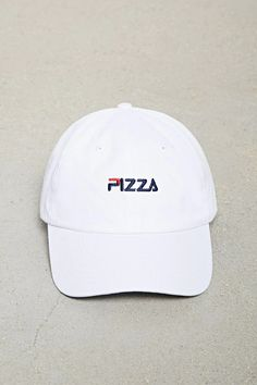 a1dd2f09 A woven canvas dad cap featuring a two-tone stitched