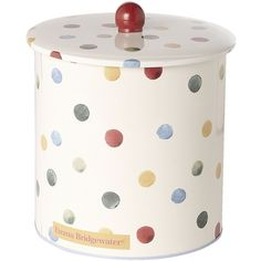 Emma Bridgewater Polka dot biscuit barrel (1.145 RUB) ❤ liked on Polyvore featuring home, kitchen & dining, food storage containers, kitchen, kitchen accessories, polka dot kitchen accessories and emma bridgewater