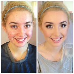 Airbrush bridal makeup Before & After www.BridesByBrittany.com