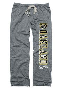 835133ee8f8b Oakland University Golden Grizzlies Womens Boyfriend Grey Sweatpants -  22782448