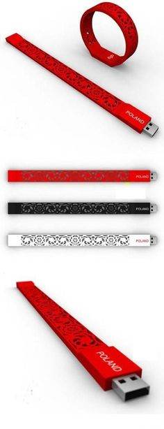 The USB flash drives can be worn on the wrist and used to decorate and prevent the loss. #flashdrive