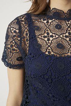 Photo 5 of Crochet High Neck Tee