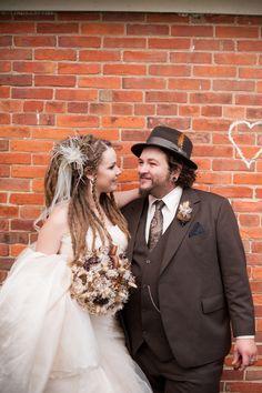 Wedding Dreadlocks - I like the vibe of this, minus the white dress.