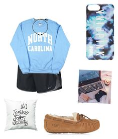 """good morning ☺️"" by kaelyn-grace-1 on Polyvore featuring NIKE, UGG and Victoria's Secret"