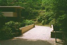 [Fallingwater: driveway over bridge to entrance]
