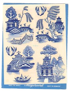 blue willow designs - Google Search Blue Willow China, Blue And White China, Love Blue, Blue China, Decoupage, Chinese Patterns, Willow Pattern, China Painting, Dragons