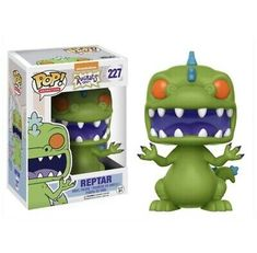 Your Pop! Vinyl Figure collection is about to get a blast from the past! From the golden era of Nickelodeon cartoons comes Rugrats! This Rugrats Reptar Pop! Vinyl Figure measures approximately 3 tall and comes packaged in a window display box. Pop Vinyl Figures, Nickelodeon 90s, Reptar Rugrats, Otaku, Evil Dead, Pop Figurine, Pokemon, Real Monsters, Pop Toys