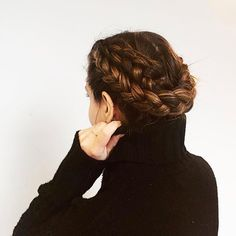 We're still thinking about this undone braided updo our @julia_casella wore on her birthday last week. To get the look just create two dutch braided pigtails then crisscross them for an easy quick version of the crown braid. Follow link in bio to subscribe to YouTube.com/Birchbox and learn more easy braided hairstyles like this one.