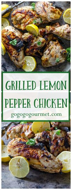 The marinade for this Lemon Pepper Chicken is super easy and makes the juiciest chicken ever!