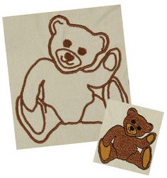 Teddy Teddybär Stickdatei auf www.gabrielles-embroidery.com