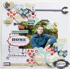 #papercraft #scrapbook #layout TERESA COLLINS DESIGN TEAM: My Home - A Family Stories Layout by Leslie Ashe