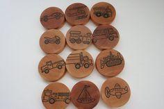 Trains Planes and Automobiles Memory Wood Game set- Eco Friendly- Waldorf Montessori Inspired