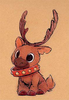 Christmas Drawings Sketchbook Daily 82 # - Reindeer D . - christmas drawings Sketchbook Daily 82 # – Reindeer Daily Paintings Book No -