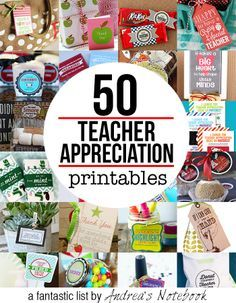 50 FREE teacher appreciation printables