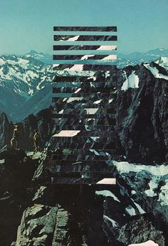 Climb  Hand-cut collage on paper cescontemporary.com/upcoming/quadrivium/ society6.com/unradical