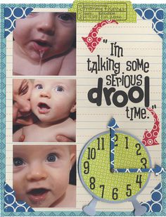 baby drool time scrapbook layout