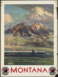 Absaroka Mountains, Montana, Northern Pacific Railway