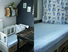 Küchenbankkissen aus altem Bettlaken
