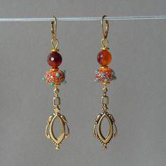 Bohemian Chic Earrings Art Deco Vintage Earrings Boho Chic