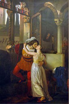 ARTE ROMANTICA: L'ultimo bacio di Giulietta e Romeo - Francesco Hayez - 1823. Villa Carlotta, Tremezzo (Como).