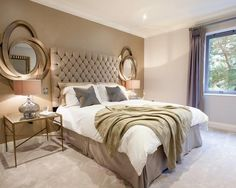 Chambre beige et gris best beige photos amazing house design best chambre gris beige marron . chambre beige et gris Taupe Bedroom, Gold Bedroom Decor, Comfy Bedroom, Bedroom Furniture, Bedroom Ideas, Headboard Ideas, Bedroom Wall, Mirrored Bedroom, Glam Bedroom